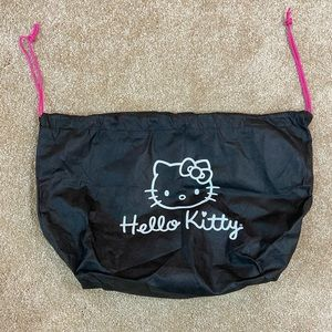 Hello Kitty Dust Cover Draw String Black Bag